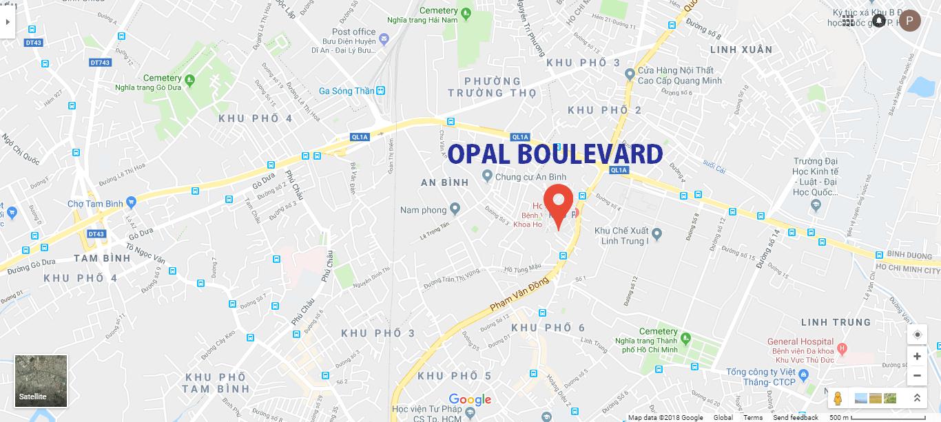 Vị trí Opal Boulevard Đất Xanh