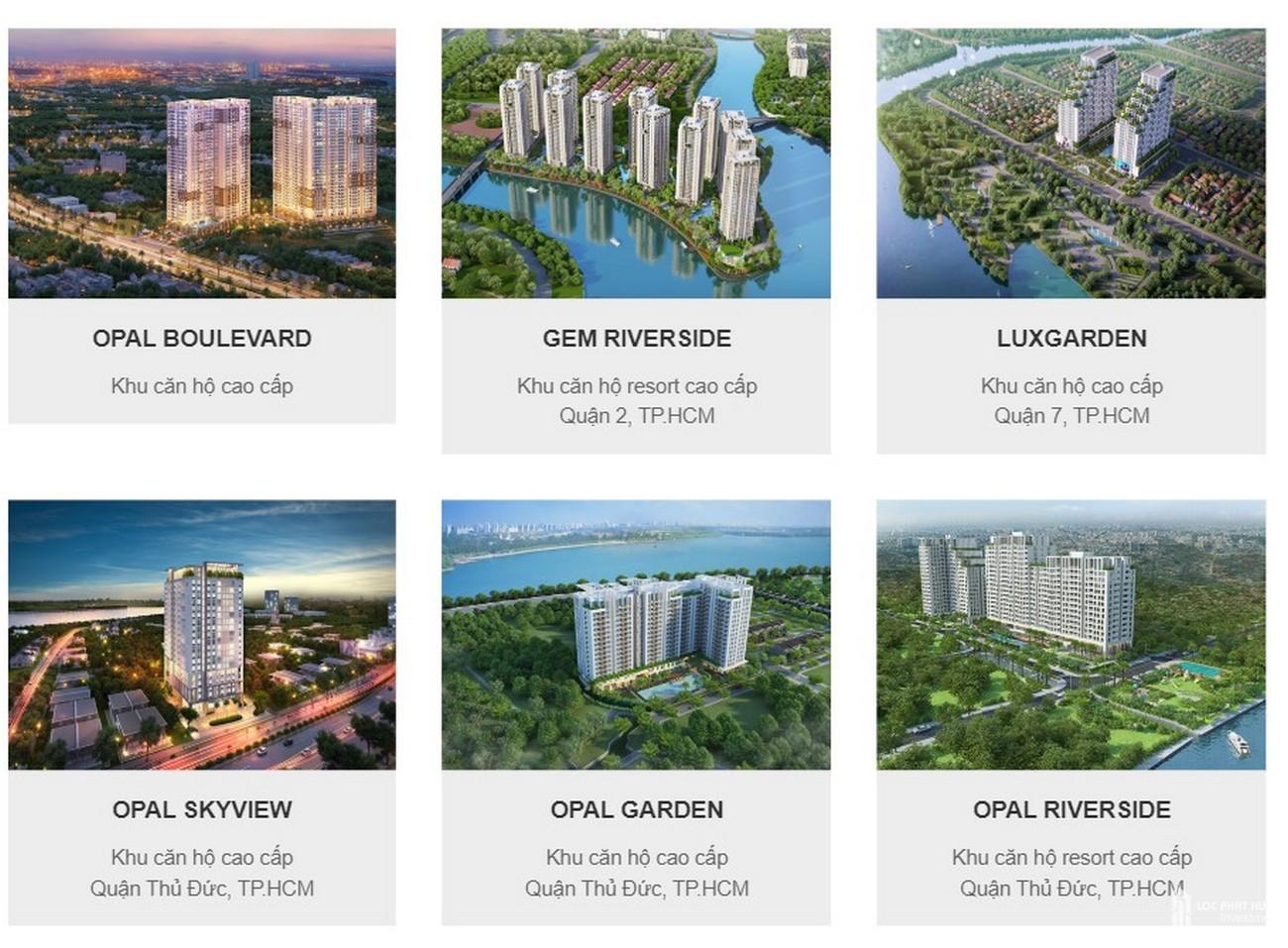 Các dự án chủ đầu tư Đất Xanh đã triển khai