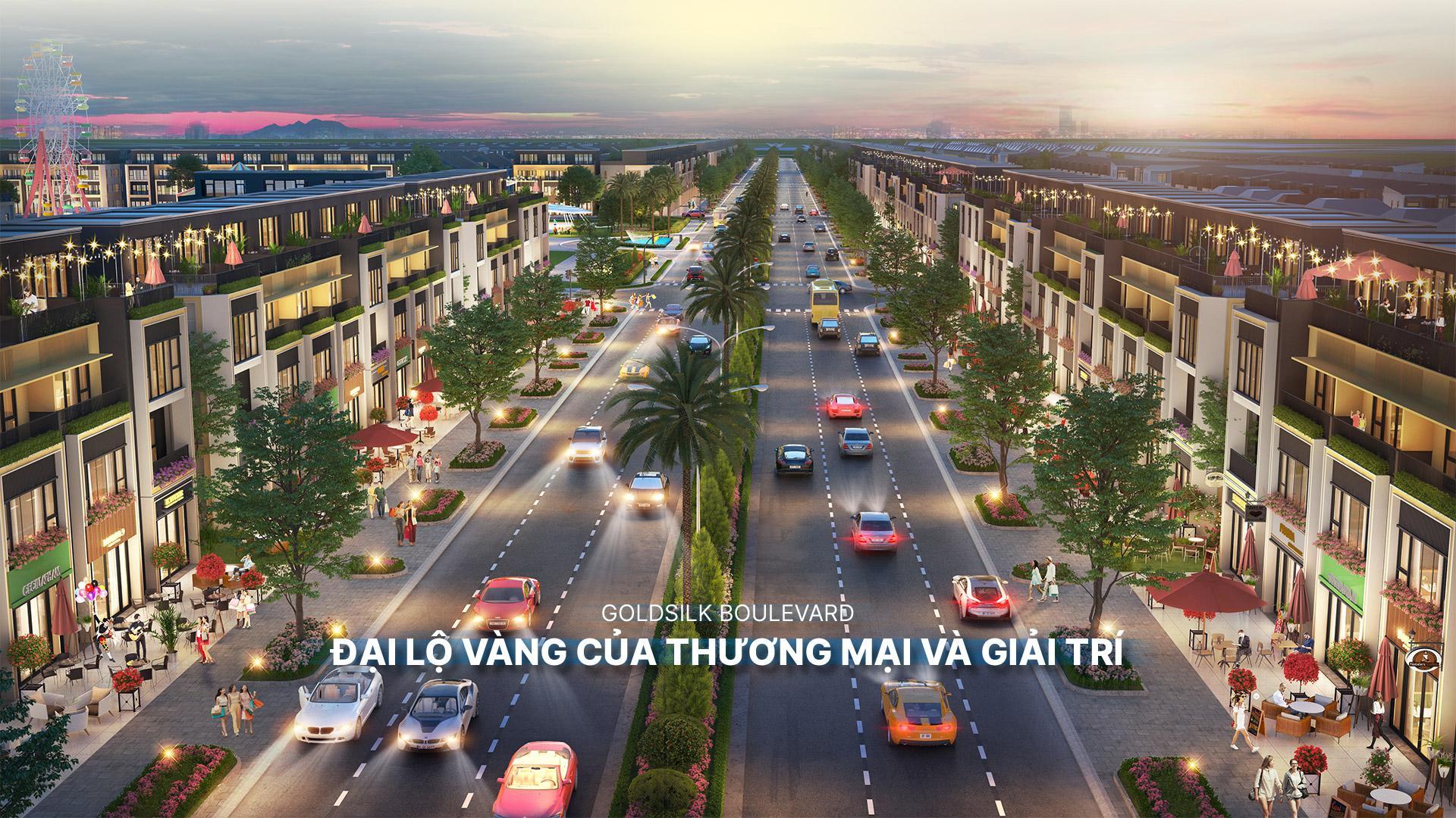 trục chính dự án khu đô thị gem sky world