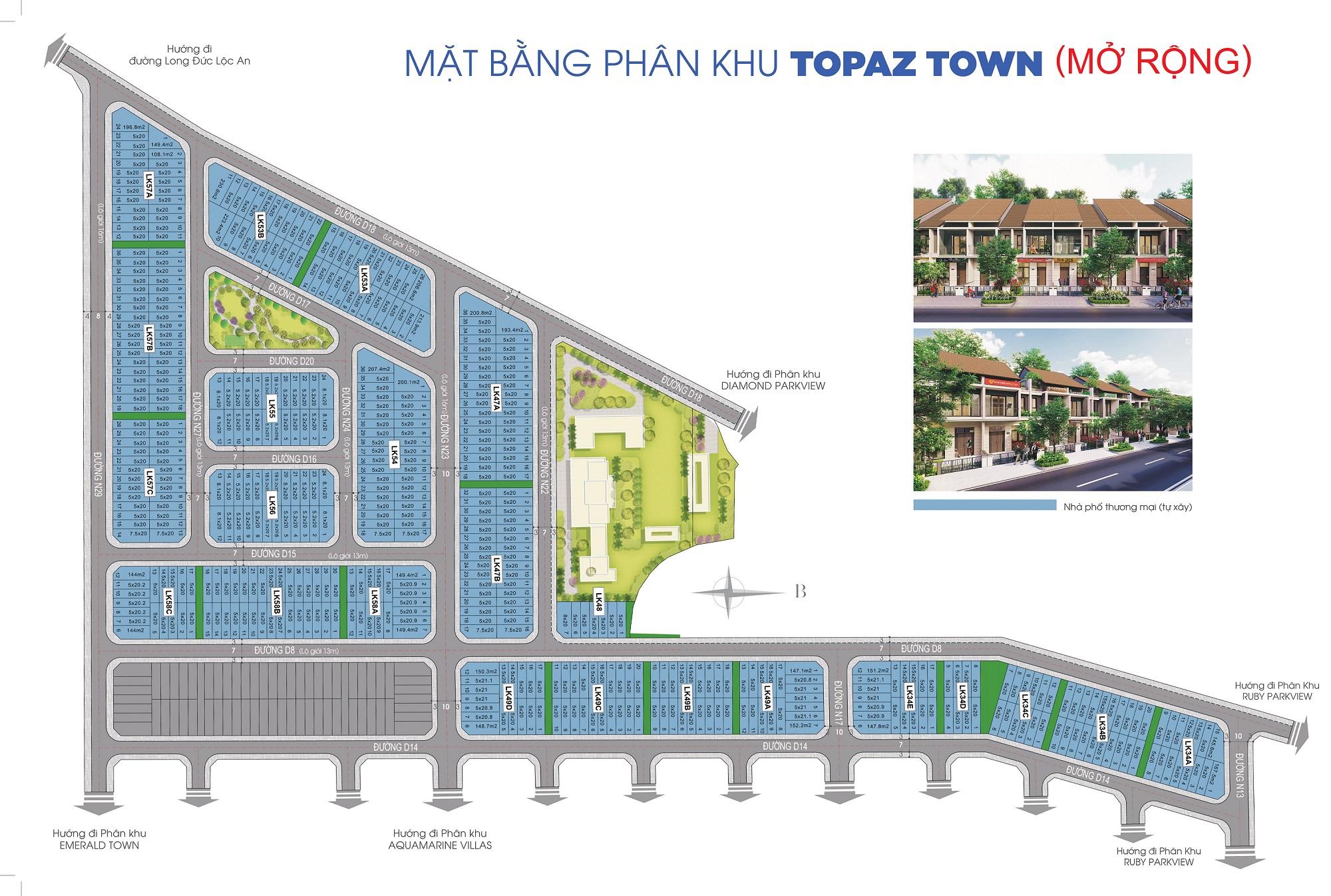 Phân khu Topaz Town Gem Sky World mở rộng