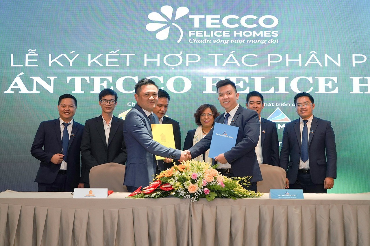 Lễ ký kết Tecco Group Đất Xanh Miền Đông