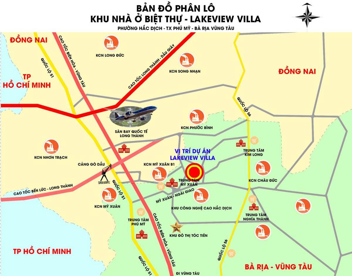 Vị trí Dự án LakeView Villa Phú Mỹ Bà Rịa Vũng Tàu