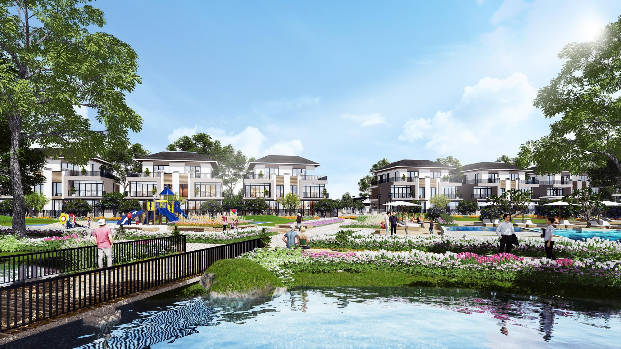 Phối cảnh dự án nhà phố biệt thự Centerhome Riverside Quận Thủ Đức