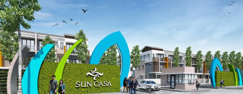 Cổng chào nhà phố Sun Casa Central Tân Uyên